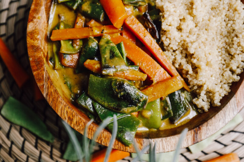 yellow carrot bean curry